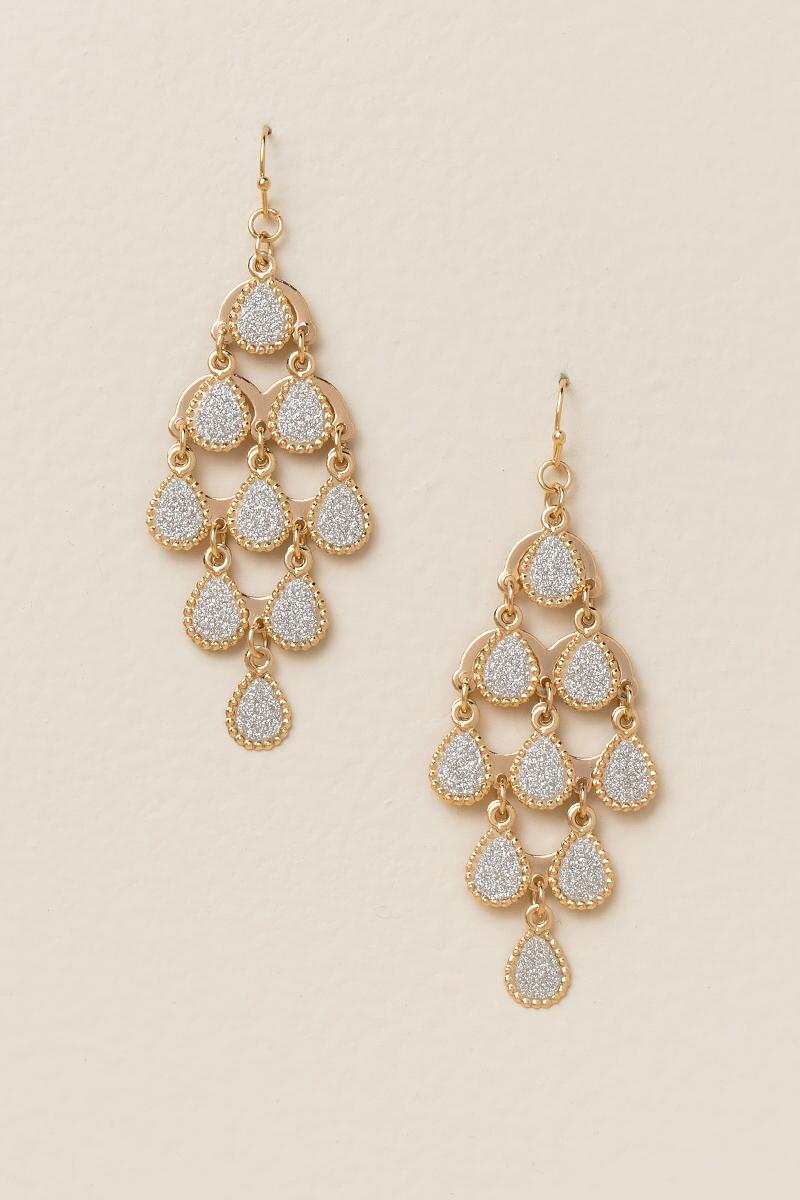 Charlene Glitter Chandelier Earrings