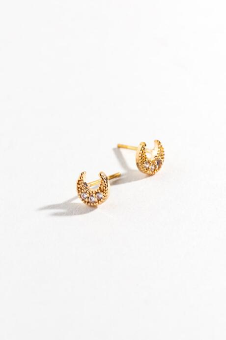 Willa Mini Moon Studs