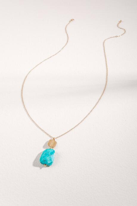 Kye Facet Stone Necklace