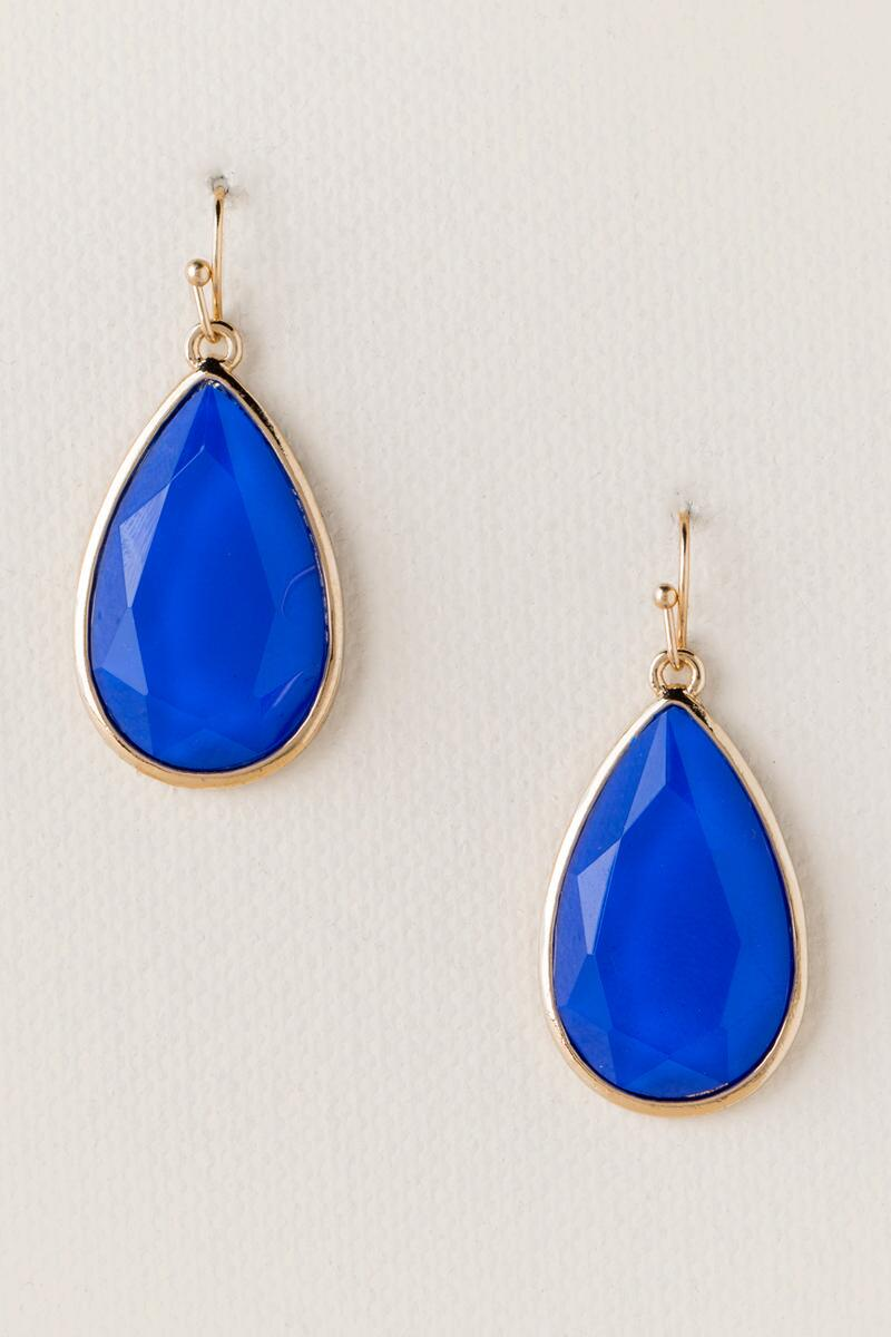 Game Day Teardrop Earring in Blue