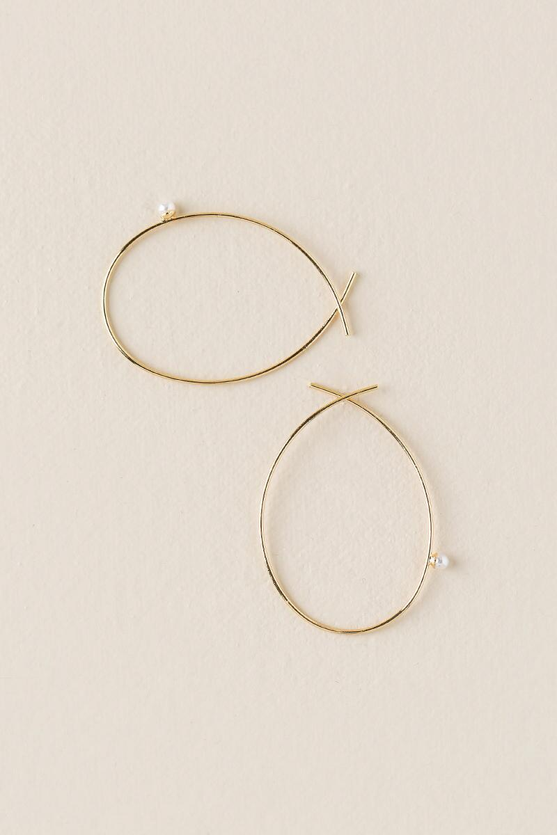 Andrea Pearl Loop Drop Earring