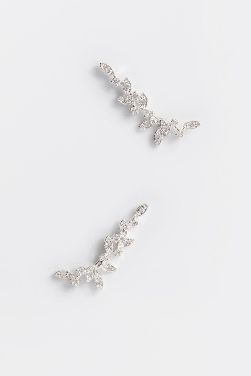 Malia Sterling Earring Crawlers- Crystal