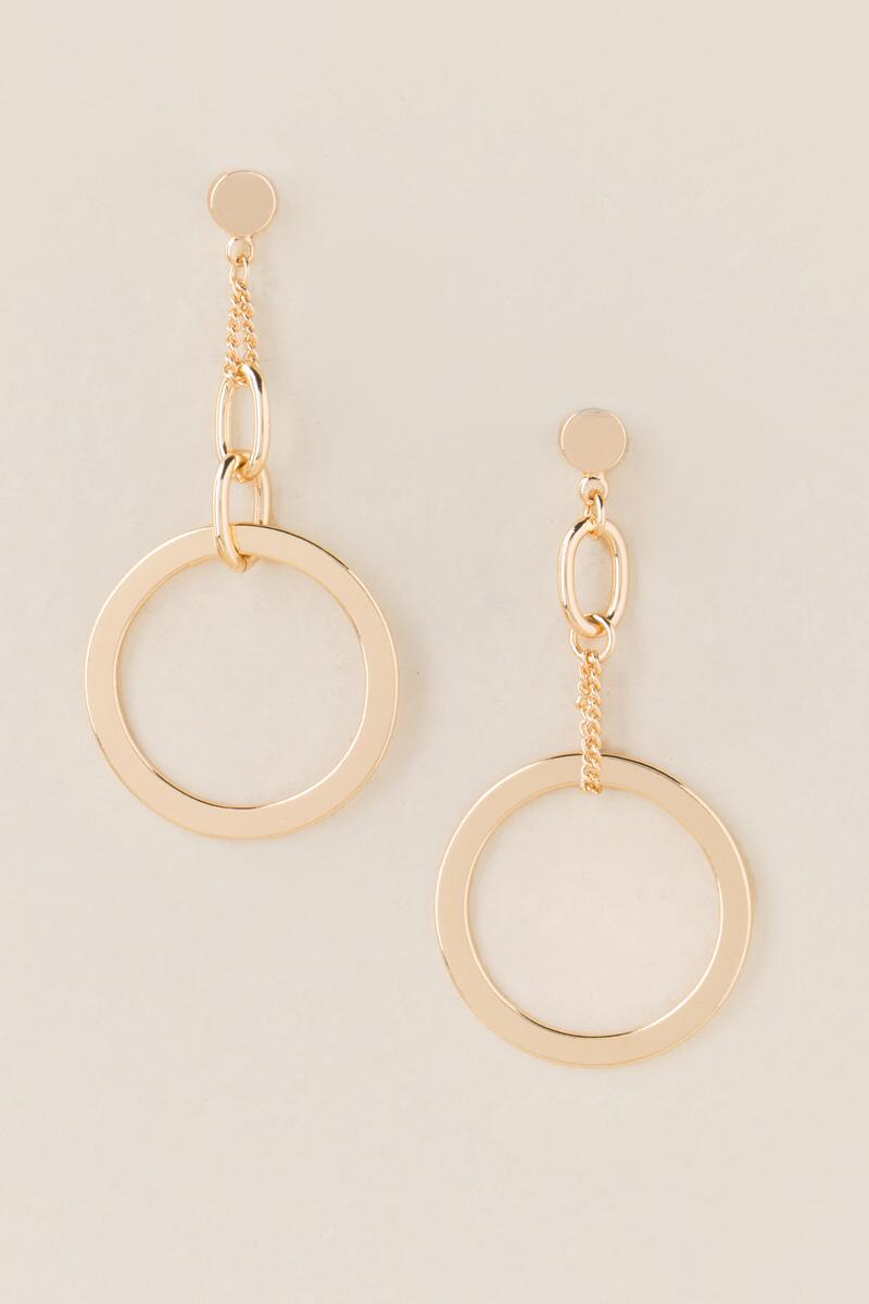 Armana Circle Drop Earrings