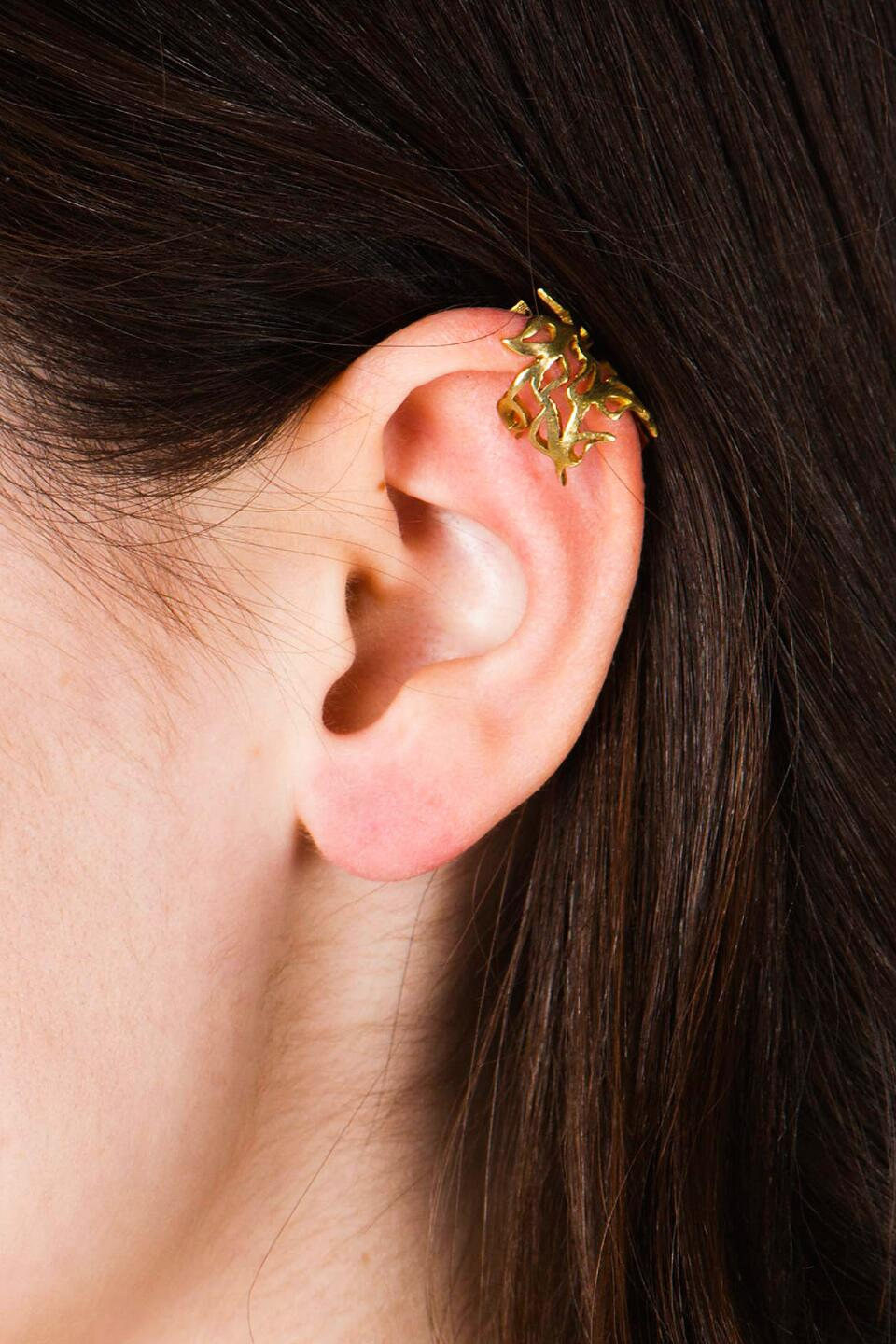 Athens Ear Cuff-  gold-cldetail