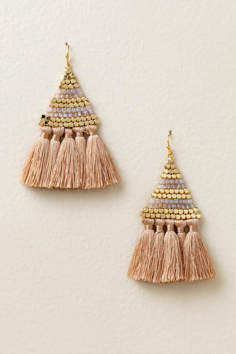 Bristol Tassel Earrings in Champagne-  cham-cl
