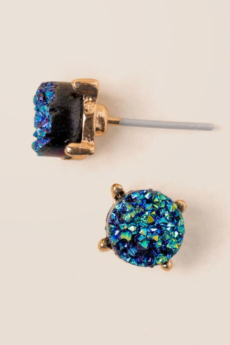 Darci Druzy Stud Earrings