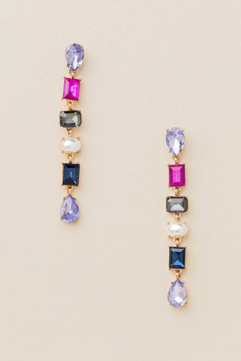 Juliet Linear Earrings In Multi