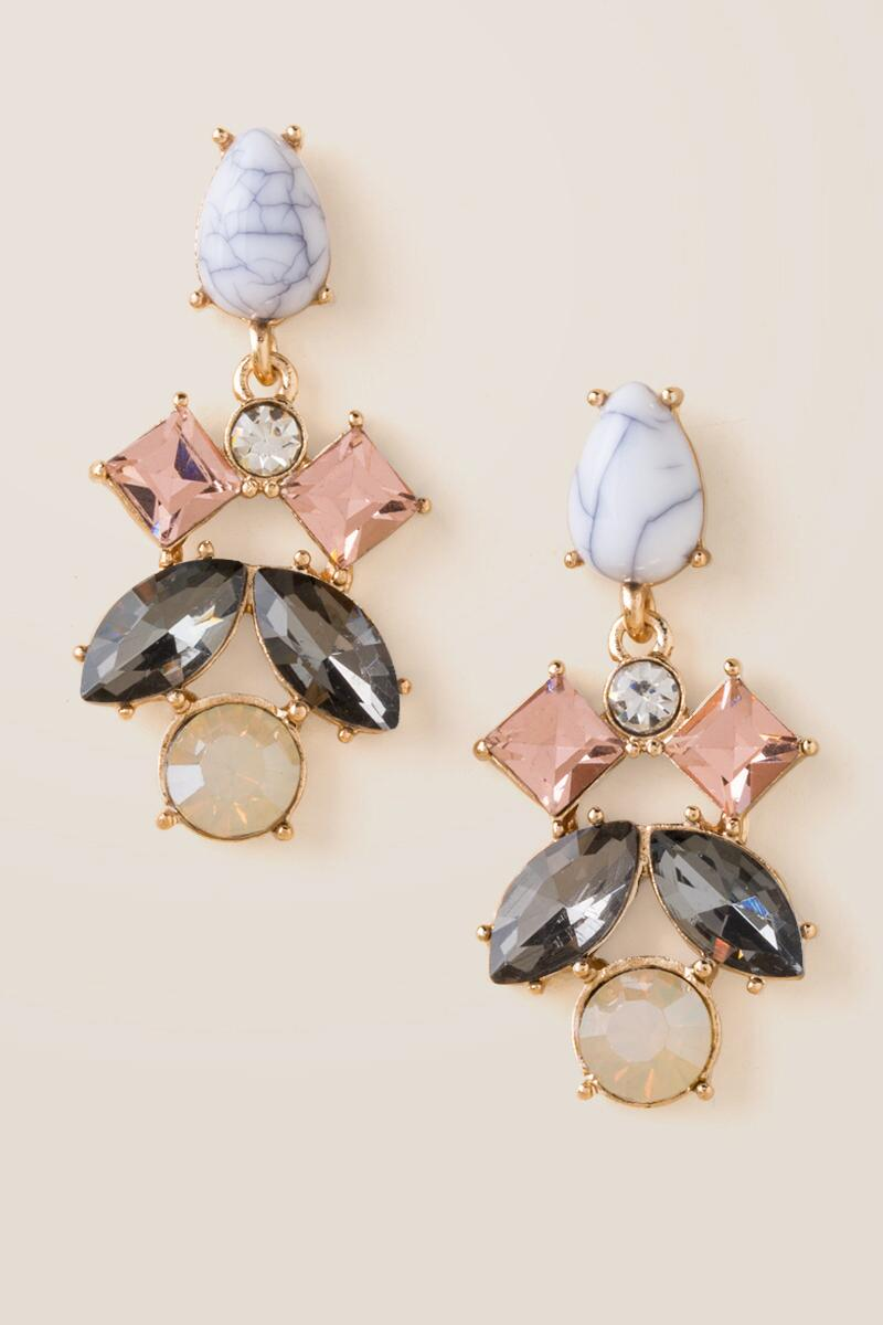 Pippa Stone Glass Drop Earrings