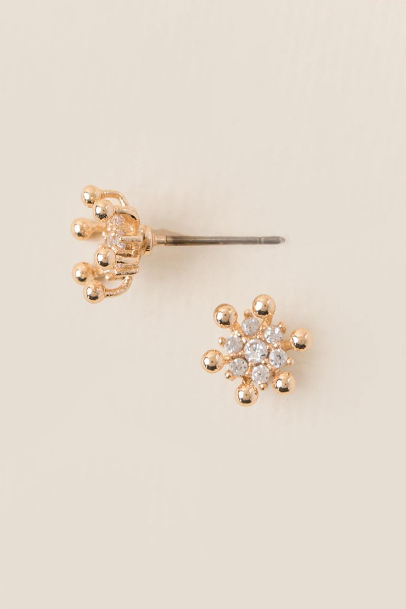 Charlotte Cubic Zirconia Burst Stud Earring-  cry-cl