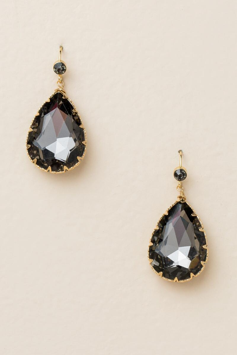 Rachelle Teardrop Earrings In Black