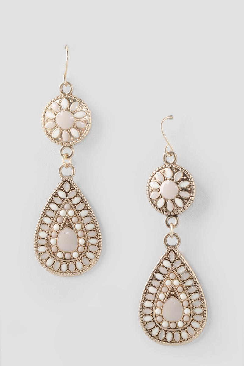 Antigone Beaded Drop Earrings