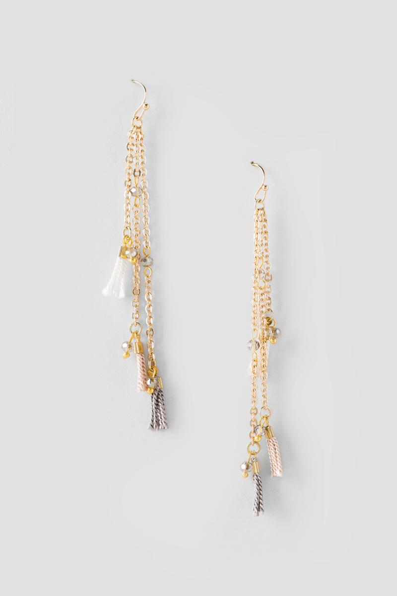 Amabel Layered Drop Earrings-  cham-cl