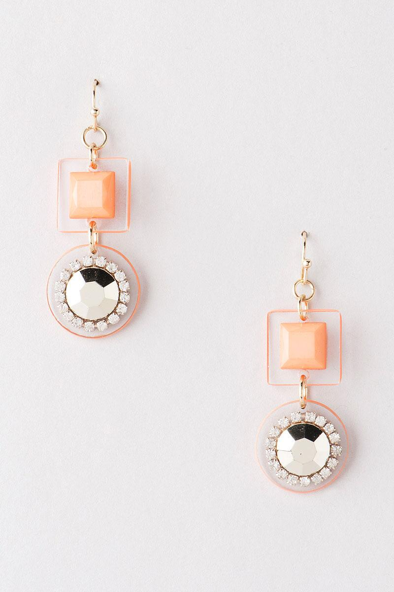 Torrance Lucite Drop Earrings