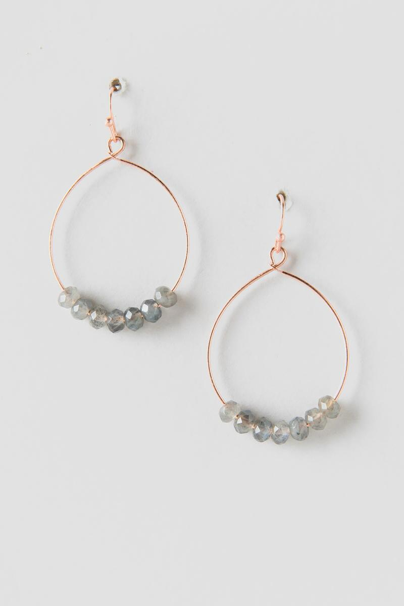 Peiper Drop Earrings-  gray-cl