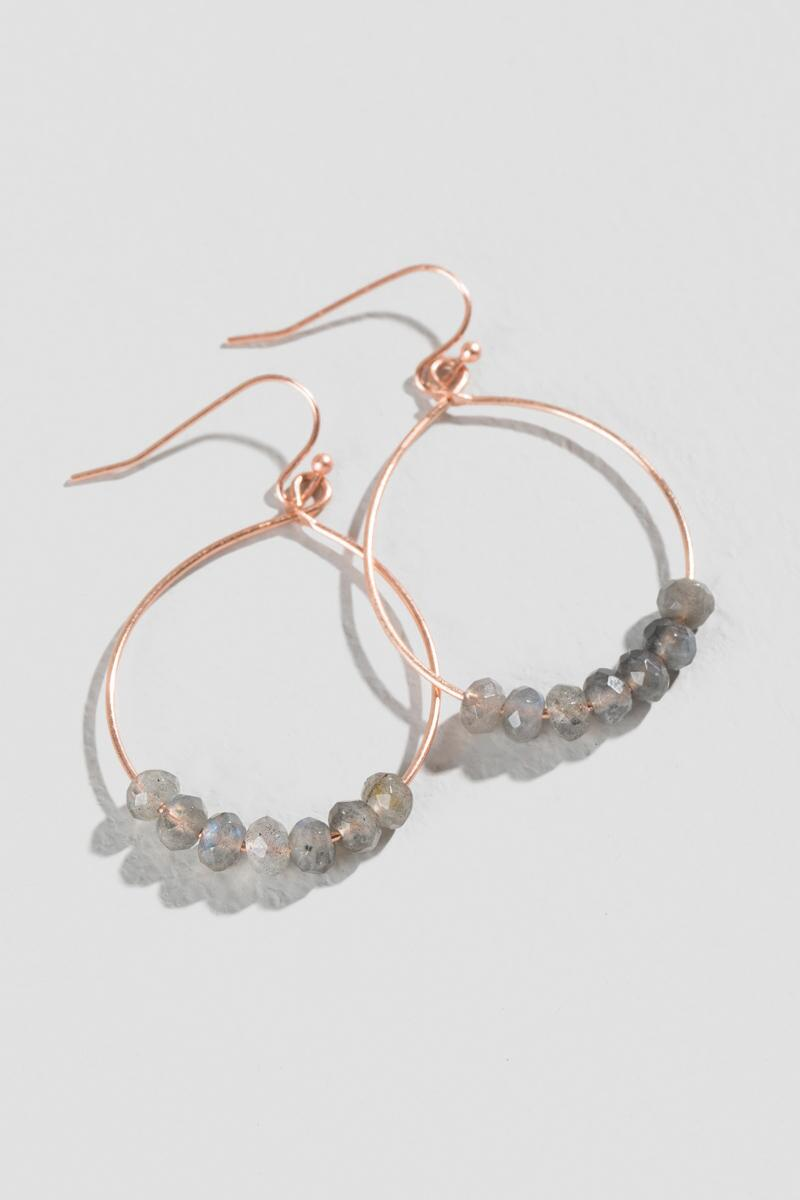 Peiper Drop Earrings-  gray-clalternate