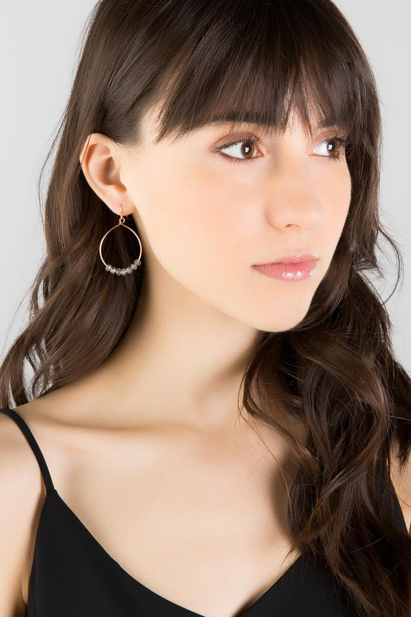 Peiper Drop Earrings-  gray-clmodel