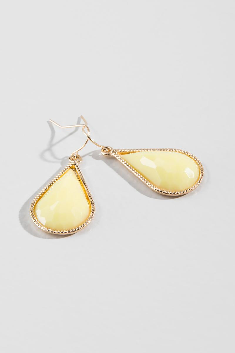 Rinka Teardrop Earrings in Yellow-  plyel-cl