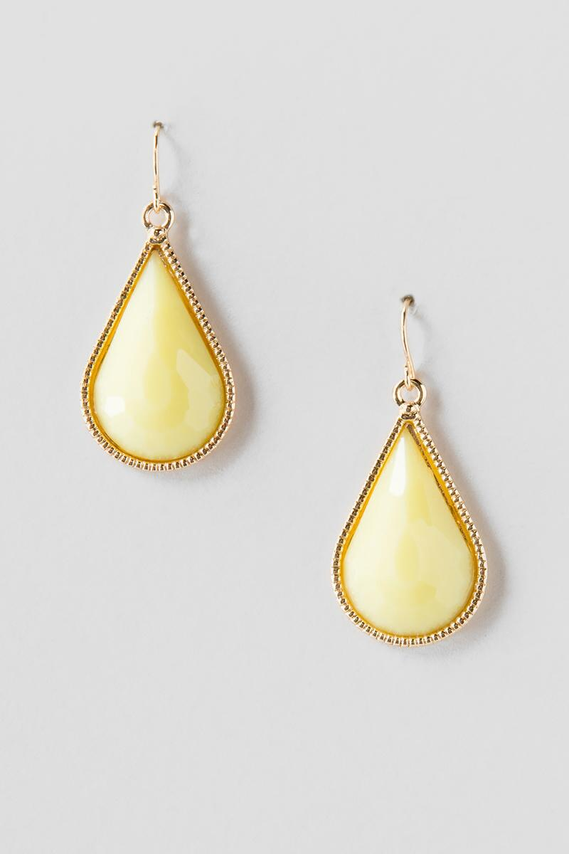 Rinka Teardrop Earrings in Yellow-  plyel-clalternate