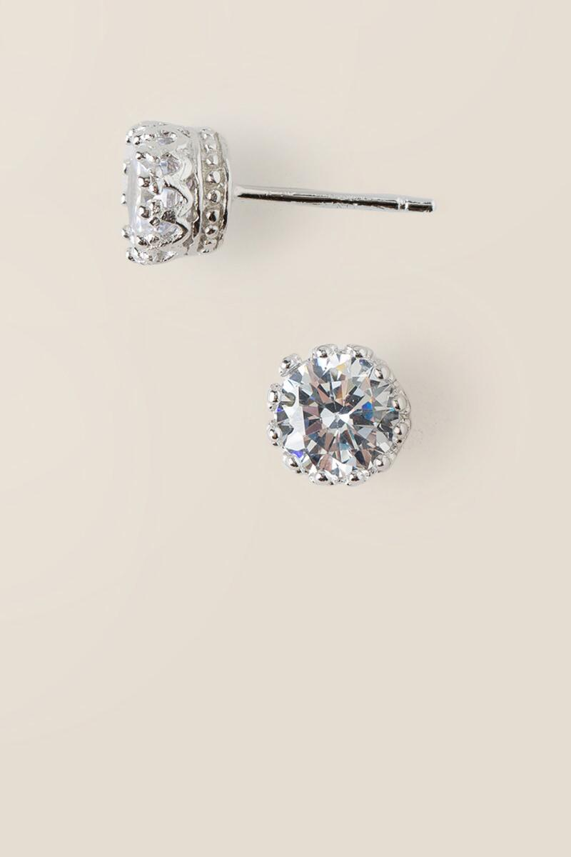 Beatrice Sterling Silver Stud Earrings-  silv-cl