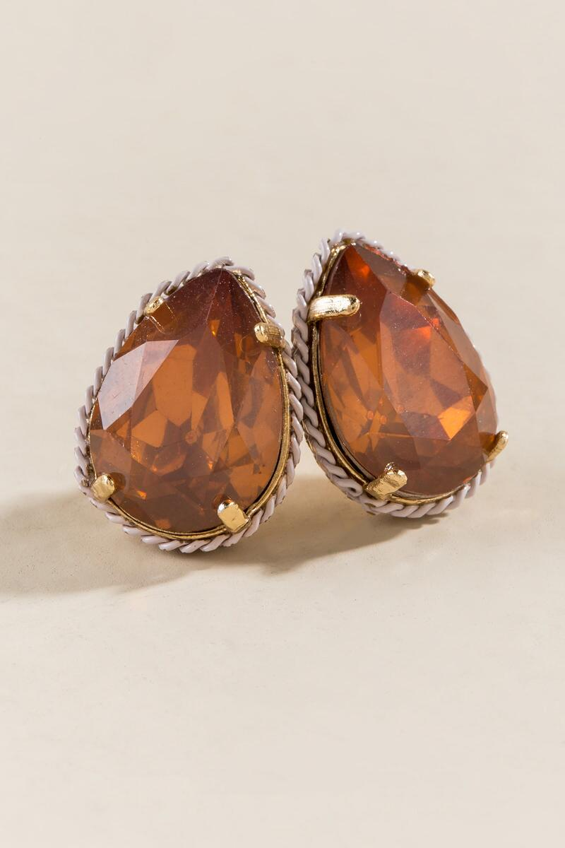 Phoebe Opal Shaped Blush Studs
