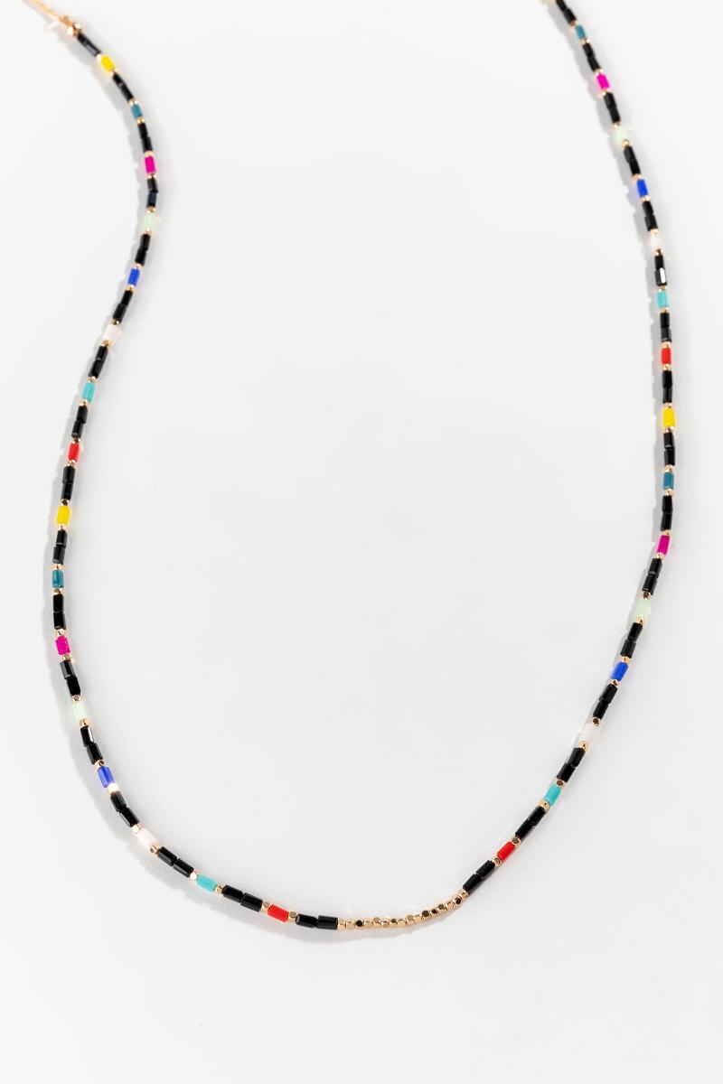 Lucille Beaded Necklace- Multi