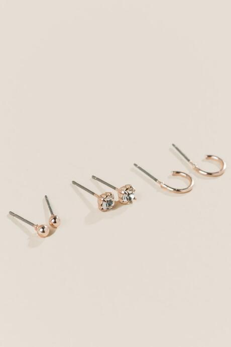 Sanchia Studs Set In Rose Gold