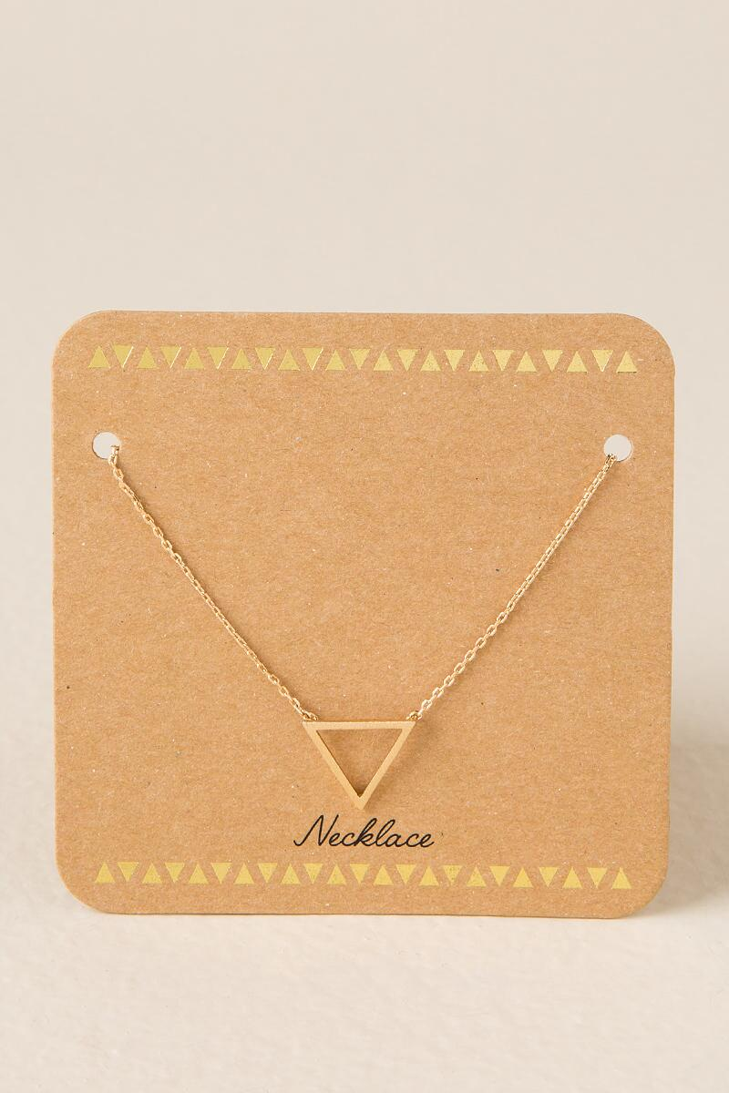 Destiny Open Triangle Necklace
