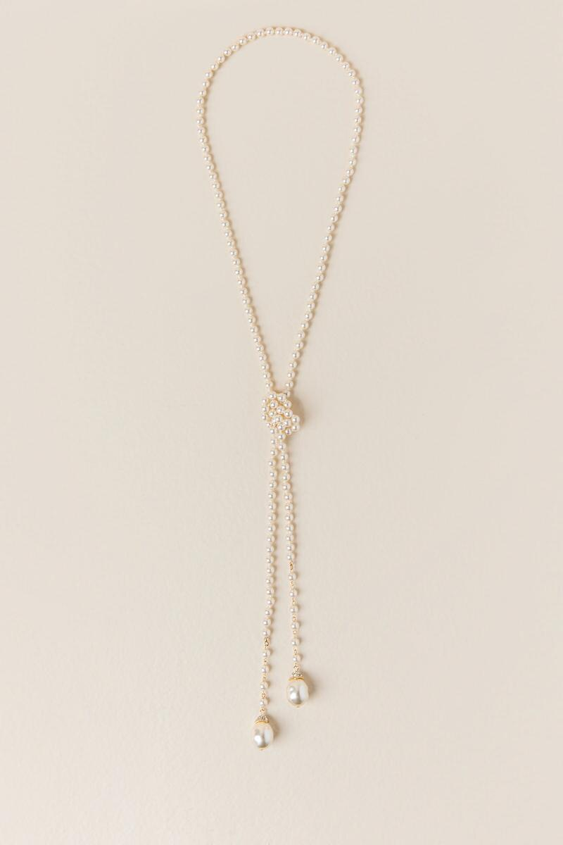 Eleanor Pearl Strand Tie Necklace
