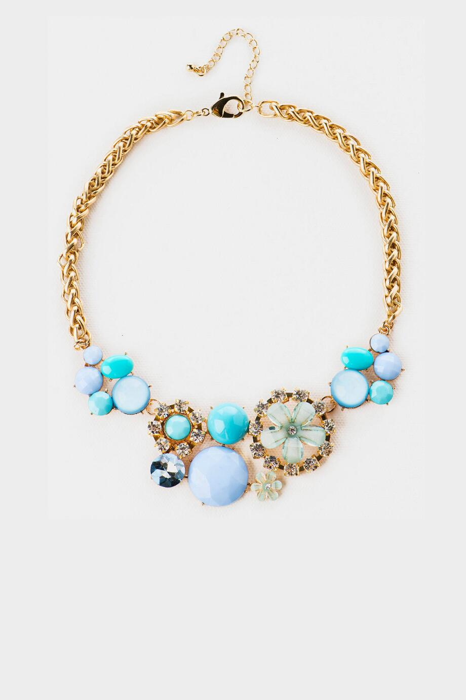 Cameron Park Floral Necklace in Blue