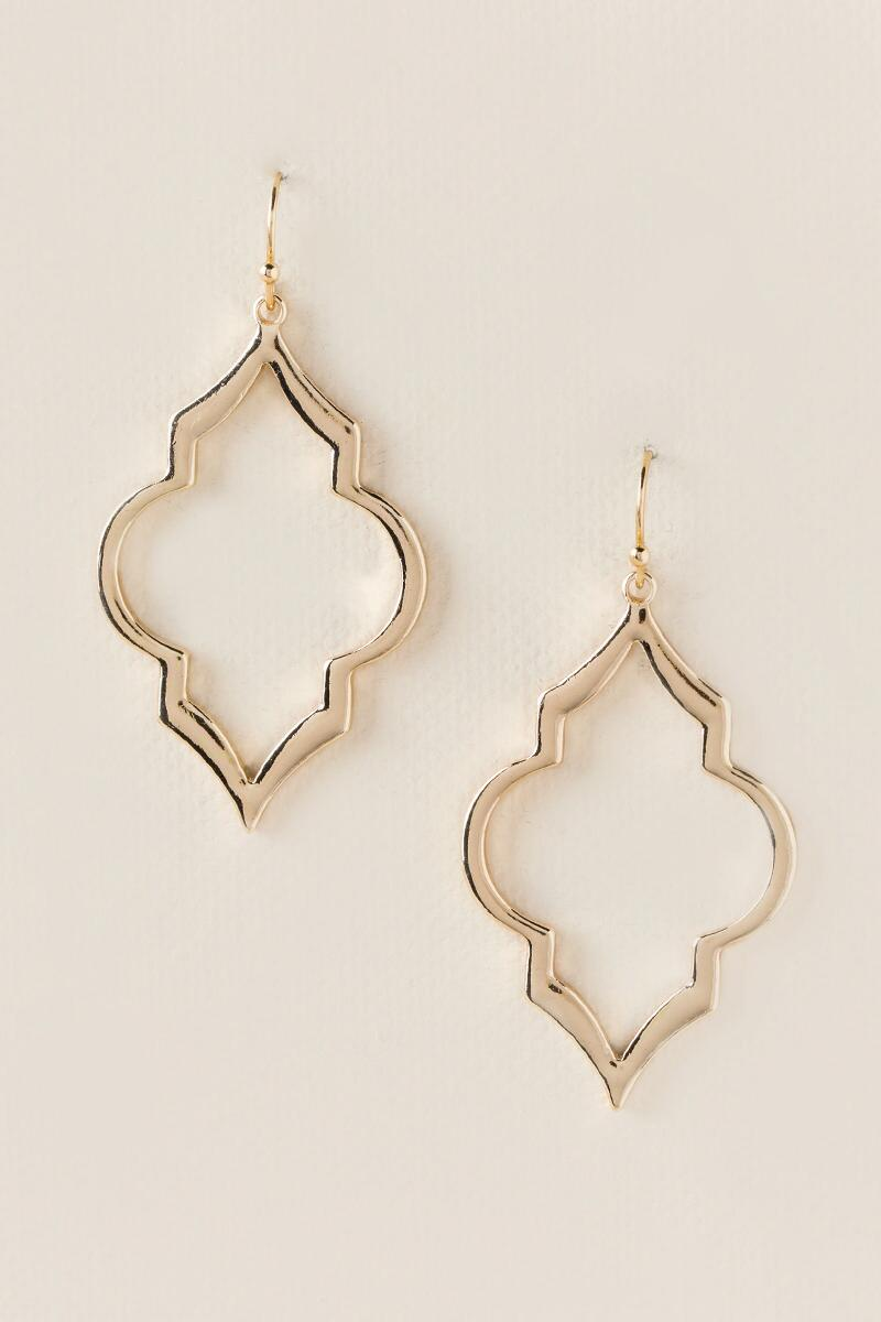 Roxy Filigree Deco Shape Earrings