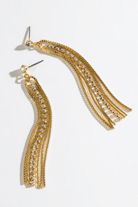 Addilyn Cupchain Linear Earrings - Gold