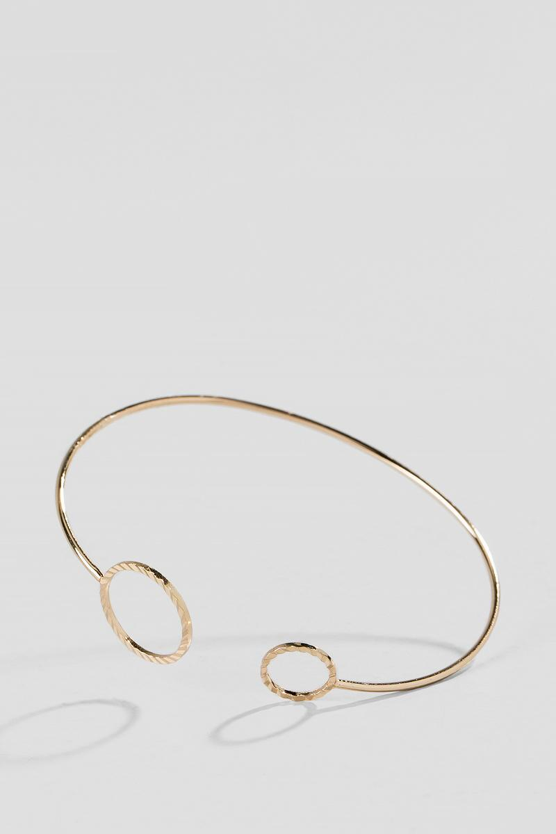 Devon Open Circle Bracelet-  gold-clalternate