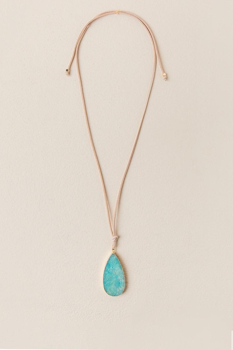 Danae Adjustable Amazonite Pendant