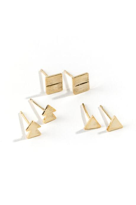Jayla Geo Shape Studs Set