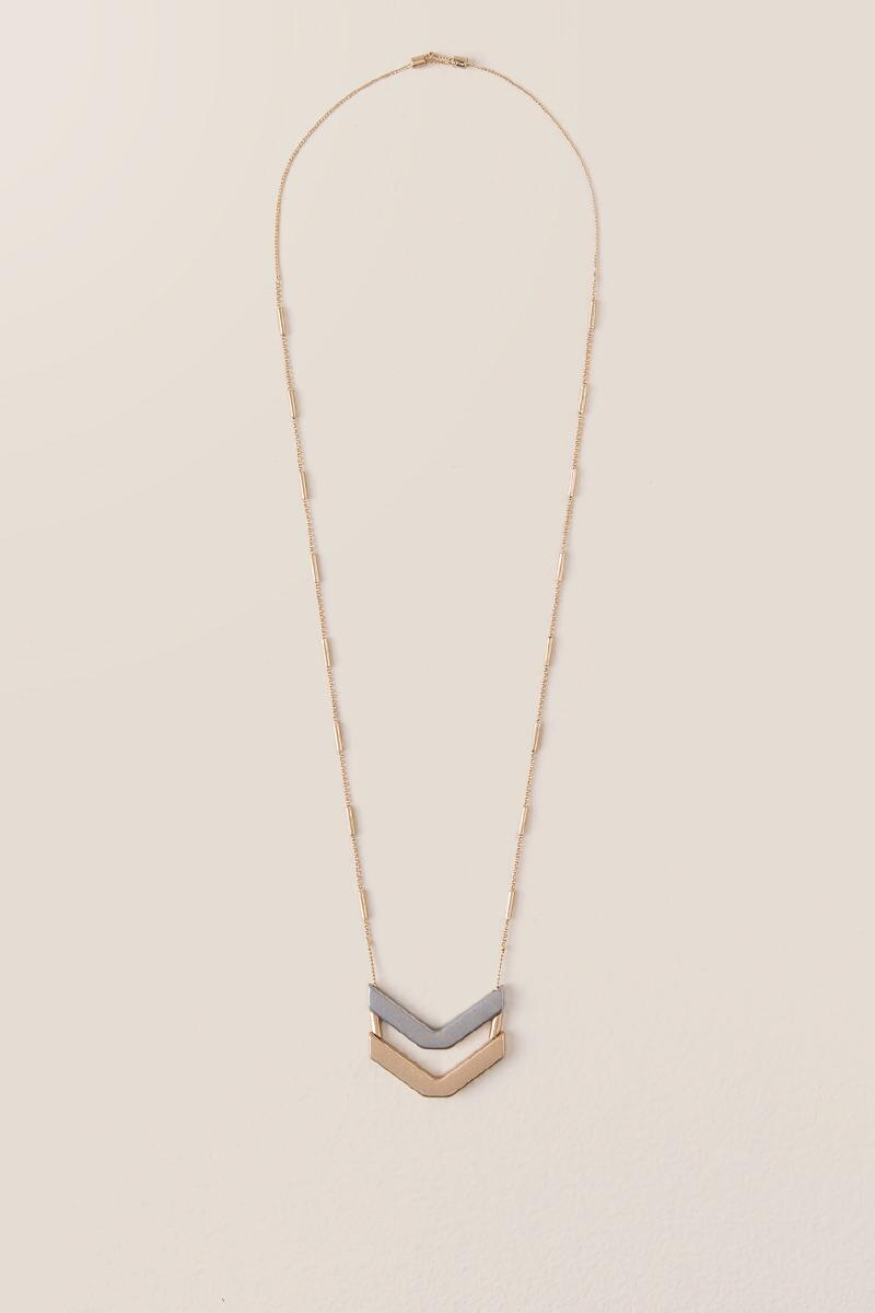 Diem Chevron Slider Necklace