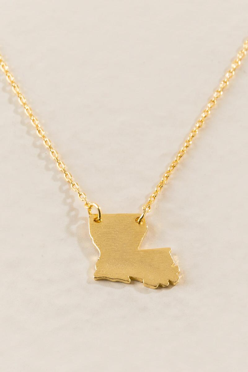 Louisiana Pendant Necklace in Gold-  gold-cl