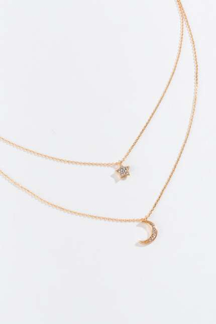 Amity Moon and Star Layered Necklace