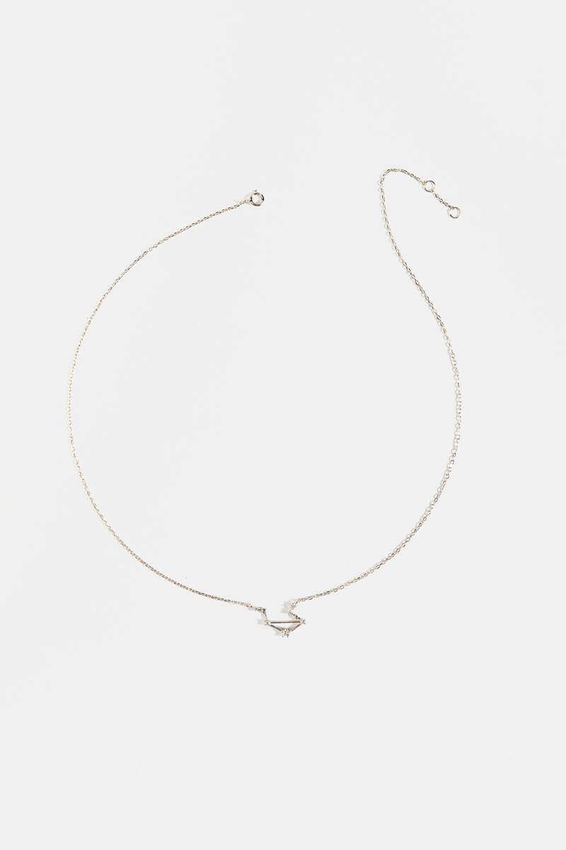 Libra Constellation Necklace-silv-cl 3