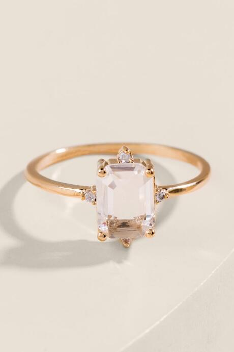 Cambria White Topaz Stone Ring