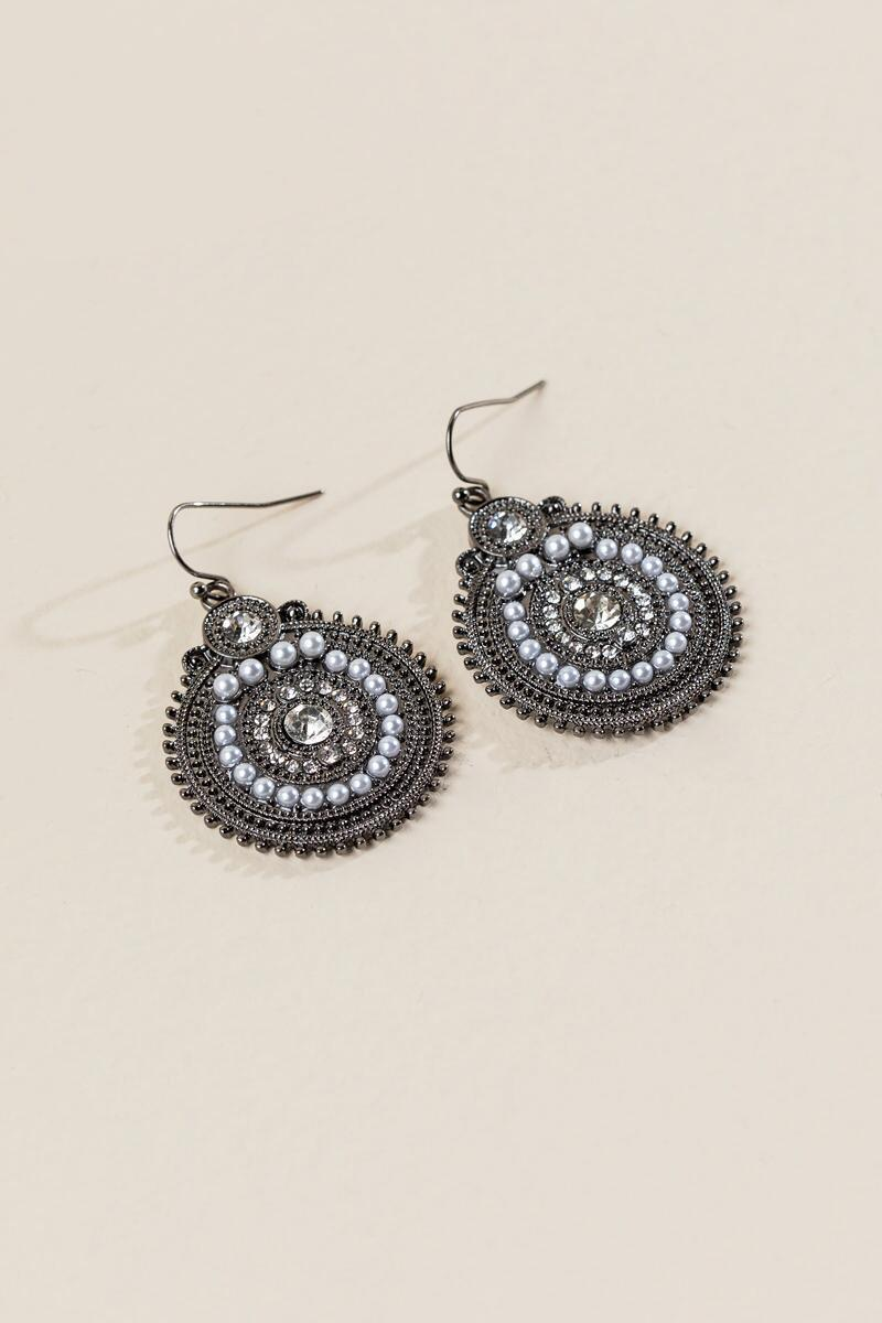 Karyn Circle Drop Earring-  silv-clalternate