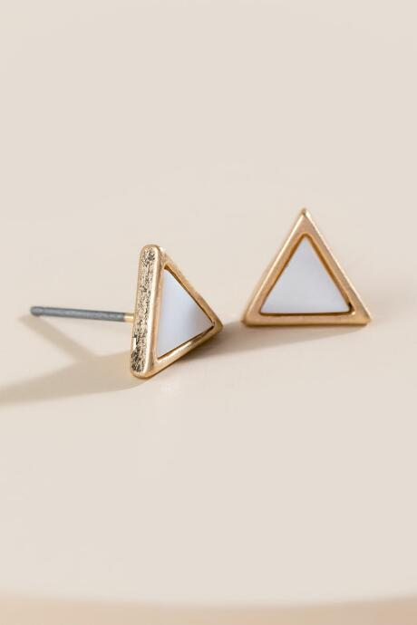 Katrina Mother of Pearl Triangle Studs