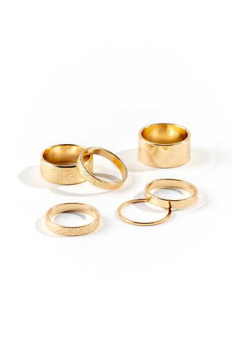 Jordan Textured Band Ring Set