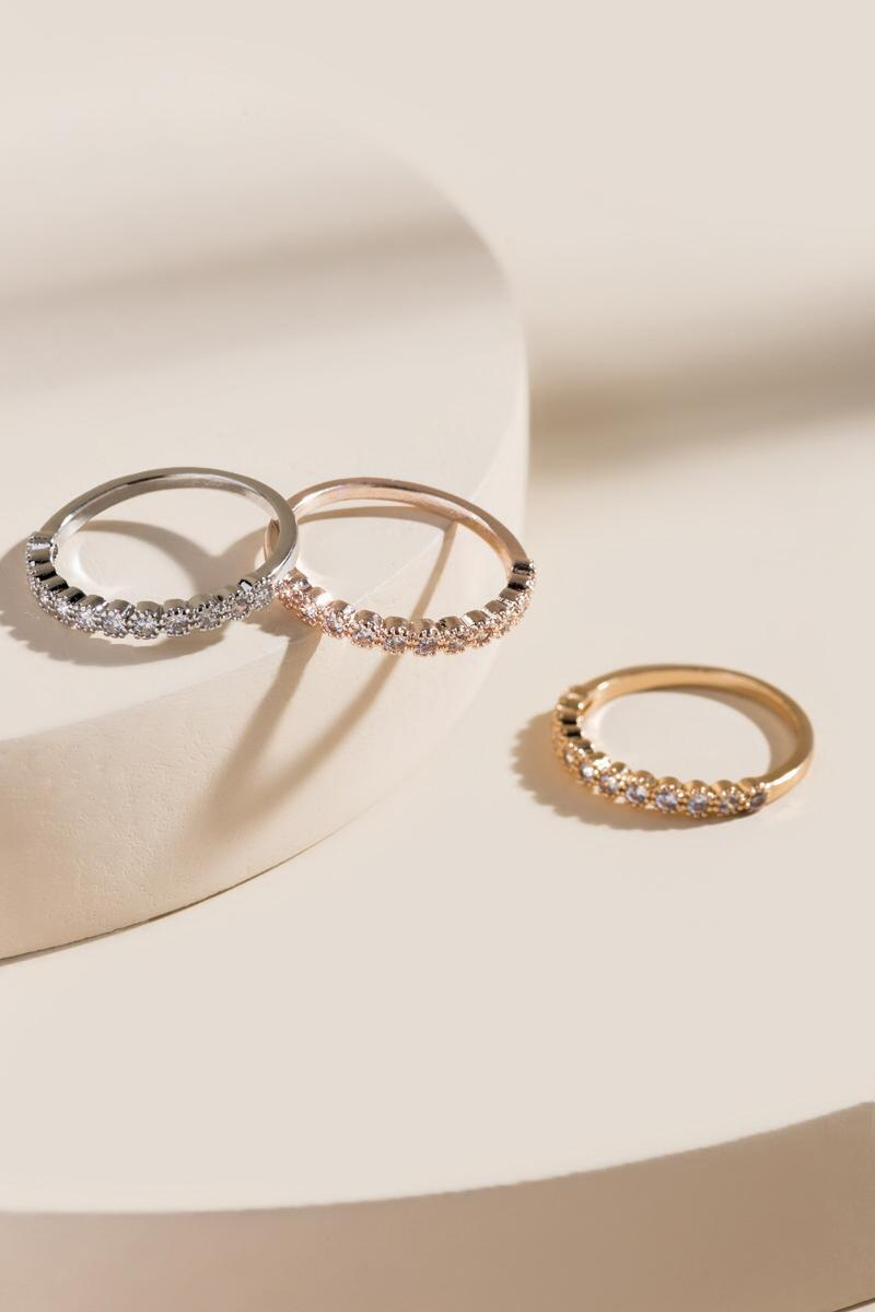 Alyson Pave Ring Set