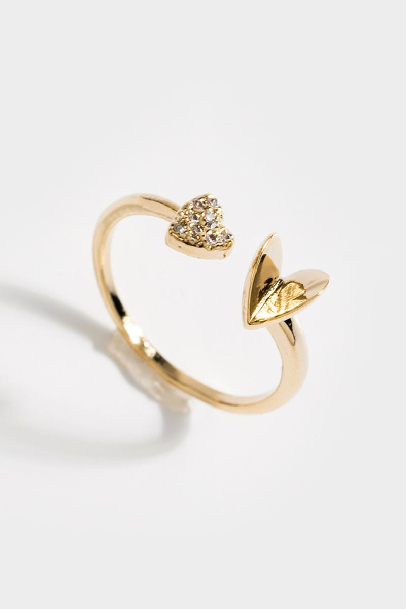 Diane Pavé Heart Ring- Gold 3