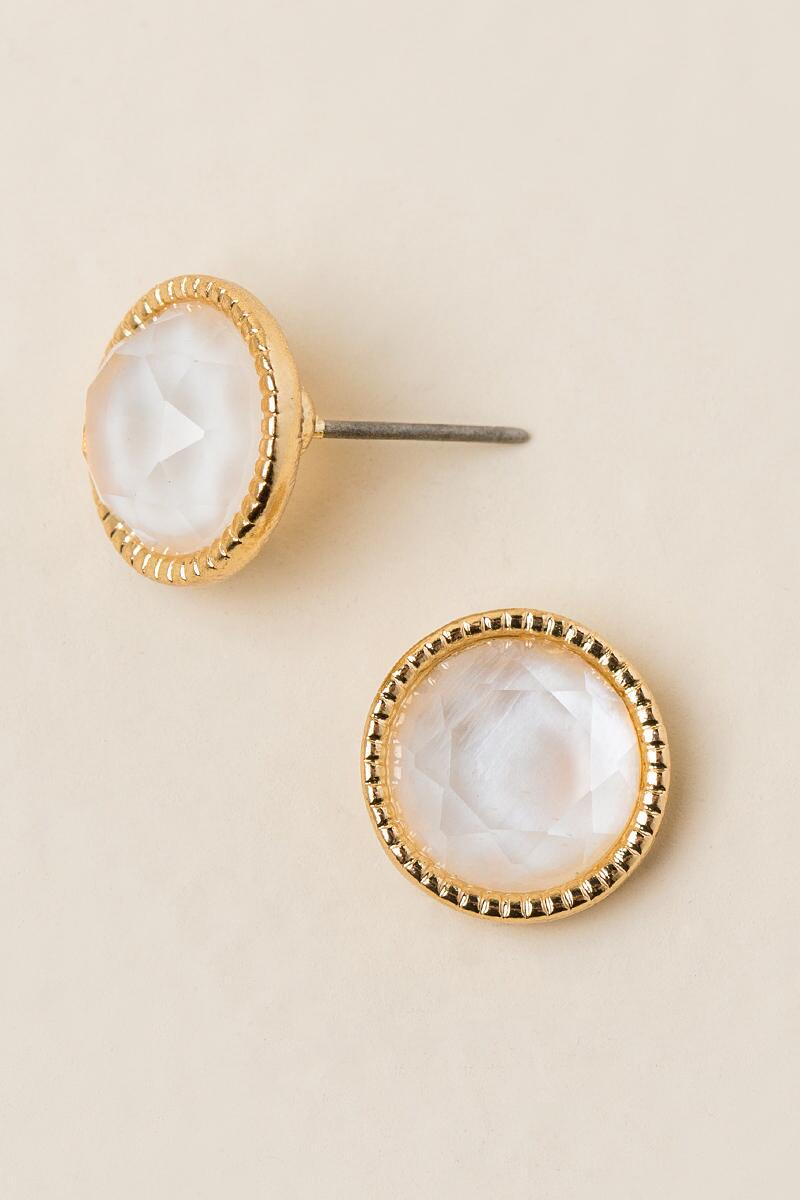 Jadira Circle Stud Earrings-  iride-cl