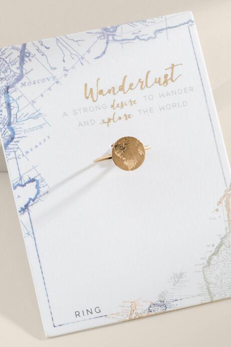 World Traveler Globe Ring