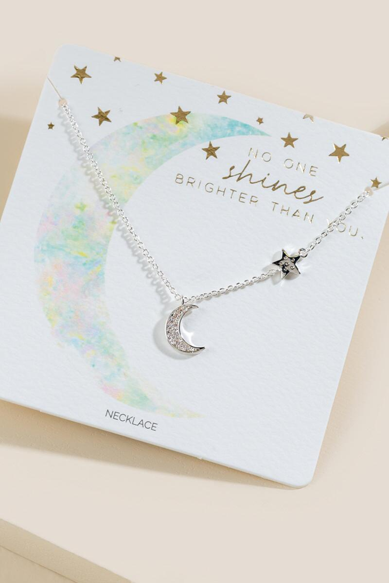 Betty Star And Moon Necklace
