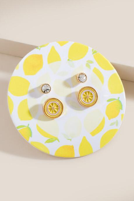 Lemon Stud Earring Set