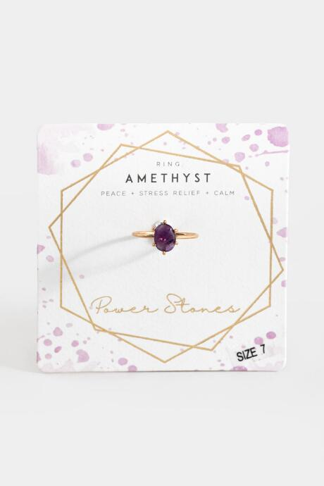 Amethyst Power Stone Ring