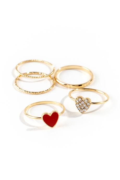 Sadie Heart Ring Set